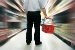 Nahrungsmitteleinkaufen Stockfotos