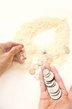 Nahrungsmittelgeld Lizenzfreies Stockbild