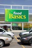Nahrungsmittelgrundlagen-Zeichen stockfotos