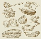 Nahrungsmittelhintergrund Stockbilder