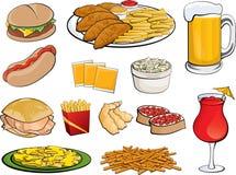 Nahrungsmittelikonen Lizenzfreie Stockfotografie