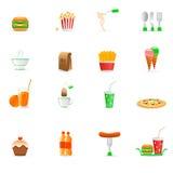Nahrungsmittelikonen Lizenzfreies Stockfoto