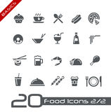 Nahrungsmittelikonen - Set 2 von 2 //-Grundlagen Lizenzfreies Stockfoto