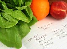 Nahrungsmitteljournal Lizenzfreie Stockbilder