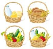 Nahrungsmittelkörbe   Lizenzfreie Stockfotos