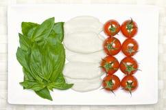 Nahrungsmittelmarkierungsfahne von Italien Stockbild