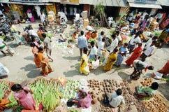 Nahrungsmittelmarkt in Indien stockbilder