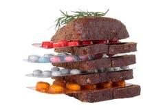 Nahrungsmittelmedizinische Mischung Lizenzfreies Stockbild