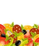 Nahrungsmittelnahtloser Hintergrund Lizenzfreie Stockbilder