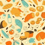 Nahrungsmittelnahtloser Hintergrund Stockfoto