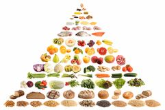 Nahrungsmittelpyramide stockfoto