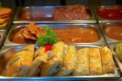 Nahrungsmittelrestarant Fleischkuchen Lizenzfreies Stockbild