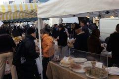 Nahrungsmittelströmungsabriß in einem Markt in London Lizenzfreies Stockbild