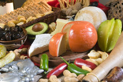 Nahrungsmitteltabelle Lizenzfreies Stockbild