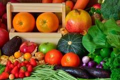 Nahrungsobst und gemüse -für gesundes Stockfotografie
