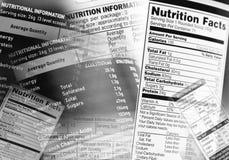 Nahrungstatsachen Lizenzfreie Stockfotografie