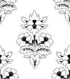 Nahtlos ein wiederholendes Blumenmuster Stockfoto