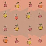 Nahtlos mit dem Bild der Frucht: Äpfel, Kirschen, Pflaumen Stockfotos