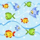Nahtlos mit Fischen. Stockfotografie