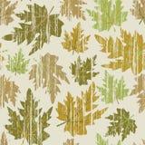 Nahtlos mit grunge Blättern Stockbilder