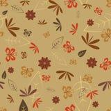 Nahtlos mit Libelle und Schmetterling Stock Abbildung
