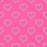 Nahtlos mit Polka punktierten Herzen Stockbilder