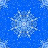 Nahtlos mit Winterspitze-Schneeflocke motiv Lizenzfreie Stockfotos