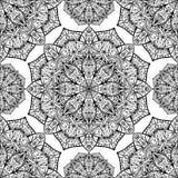 Nahtlos, Vektorhintergrund mit orientalischen Mandalen Stockfotografie