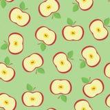 Nahtlos vom Apfel Stockfotografie