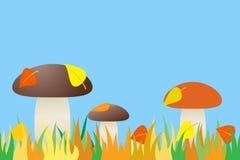 Nahtlos vom Pilz im Gras. Lizenzfreie Stockfotos