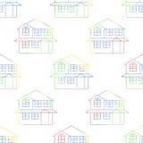 Nahtlos von den Haus-Entwürfen Lizenzfreies Stockbild