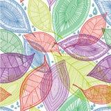 Nahtlose abstrakte Farbe lässt Muster Lizenzfreie Stockfotografie