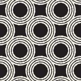 Nahtlose abstrakte Hand gezeichnetes Muster Freihändige Linien Hintergrundbeschaffenheit des Vektors Tintenbürste streicht geomet Stockfotografie