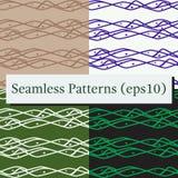 Nahtlose abstrakte horizontale Linien Muster-Hintergrund stock abbildung