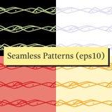 Nahtlose abstrakte horizontale Linien Musterhintergrundsatz vektor abbildung