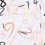 Nahtlose abstrakte Illustrationen von Zahlen, begrifflich Effekt, Ausbildung, kreativ u. grafisch vektor abbildung