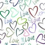 Nahtlose abstrakte Liebe für Valentinstag, Feiern oder Jahrestag Festlich, Bündel, Schablone u. Konzept stock abbildung