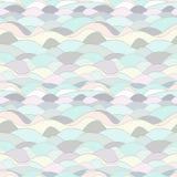 Nahtlose abstrakte Linien Wellenhintergrund Lizenzfreie Stockbilder