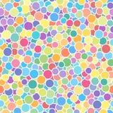 Nahtlose abstrakte mehrfarbige gestrichene Rundenmusterbeschaffenheit stock abbildung