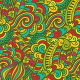 Nahtlose abstrakte von Hand gezeichnete Wellenbeschaffenheit Kopieren Sie dieses Quadrat zu t Stockbild