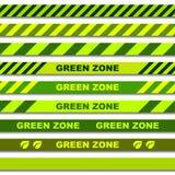 Nahtlose Achtungbänder der grünen Zone Lizenzfreie Stockbilder