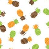 Nahtlose Ananasmuster Vektorillustration Stockbilder