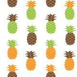 Nahtlose Ananasmuster Vektorillustration Stockfoto