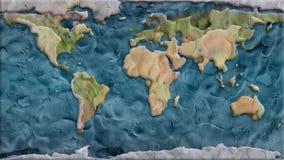 Nahtlose Animation Endlos-Schleife des Lehmplanetenerdkartenhintergrundes - dynamisches frohes der neuen Karikatur der Qualität e stock video footage