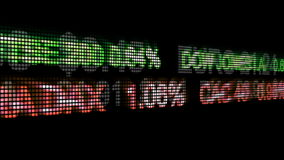 NAHTLOSE Animation WALL STREETS stock abbildung
