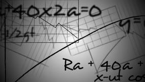 Nahtlose Animationswissenschaft, Physik und Gleichung der mathematischen Formel kritzeln Handschrift in laut summendem Bildungshi stock footage