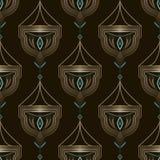 Nahtlose antike Art- DecoMusterverzierung Geometrischer Hintergrund Stockfoto