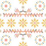 Nahtlose Araberfilz-Muster Sonnenblume lizenzfreie stockbilder