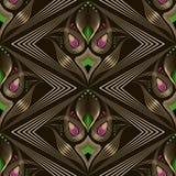 Nahtlose Art- Decomoderne Mustergraphikverzierung Abstraktes styl Stockfoto