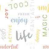 Nahtlose Art Muster-Leben-Farbe Lizenzfreie Stockbilder